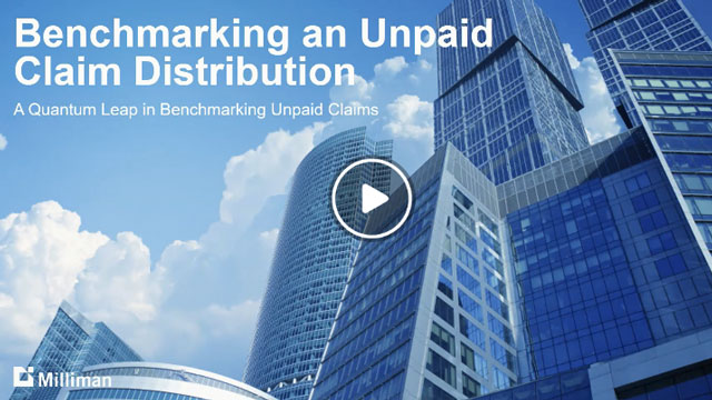 Benchmarking an unpaid claim distribution
